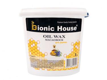 Масло-воск для дерева с пчелиным воском Bionic House