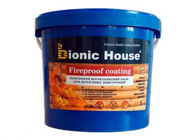 Огнебиозащитная краска Bionic House Fireproof coating для дерева