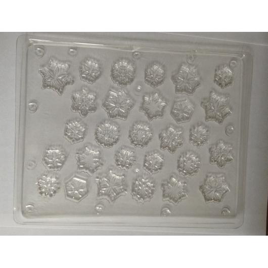 Форма для шоколада Снежинки