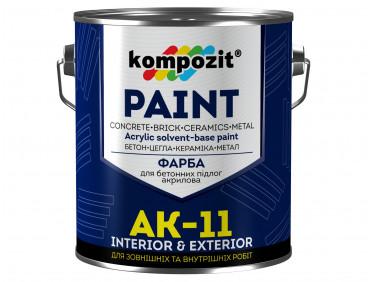 Краска для бетонных полов Kompozit AK-11 серая