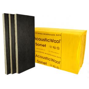 Акустическая минеральная вата AcousticWool Sonet P 100 мм кашированная стеклохолстом