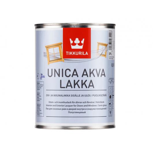Лак водный Уника Аква Лакка Tikkurila UNICA AKVA LAKKA