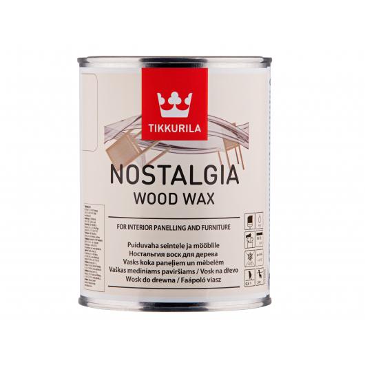 Воск для мебели и стен с карнаубским воском Ностальгия Tikkurila NOSTALGIA кокос - интернет-магазин tricolor.com.ua