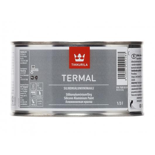Краска термостойкая силиконоалюминиевая Термал Tikkurila Termal silikonialumiinimaali