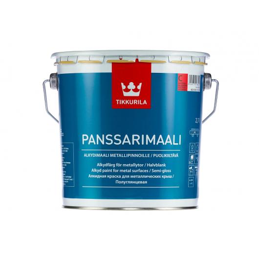 Краска алкидная для металлических крыш Панссаримаали Tikkurila PANSSARIMAALI белая - изображение 2 - интернет-магазин tricolor.com.ua