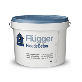 Краска латексная для фасадов и цоколей Flugger Facade Beton Vit белая
