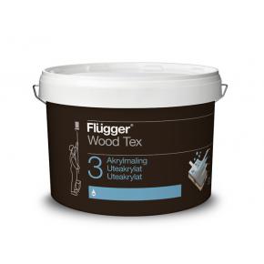 Акриловая латексная краска Flugger Wood Tex Acryl 30 Paint Vit белая
