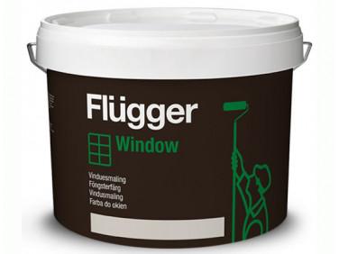 Краска алкидно-акриловая для окон и дверей Flugger Wood Tex Window Paint Vit белая