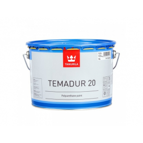Краска акрилоуретановая 2К А Темадур 20 Tikkurila Temadur 20 белая TVL