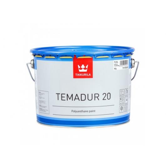 Краска акрилоуретановая 2К А Темадур 20 Tikkurila Temadur 20 прозрачная TCL