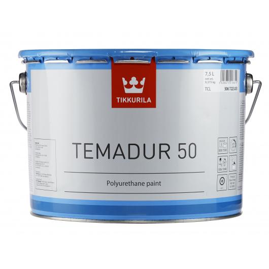 Краска акрилоуретановая 2К А Темадур 50 Tikkurila Temadur 50 алюминевая (мелкий металлик) THL-209