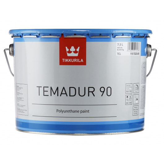 Краска акрилоуретановая 2К А Темадур 90 Tikkurila Temadur 90 алюминиевая (крупный металлик) TML