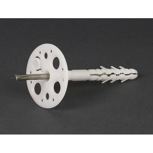 Дюбель для теплоизоляции с металлическим гвоздем и термозаглушкой Премиум ST-M10х160 - интернет-магазин tricolor.com.ua