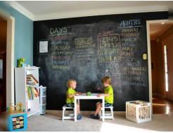Интерьерная грифельная краска Ideapaint черная - изображение 2 - интернет-магазин tricolor.com.ua