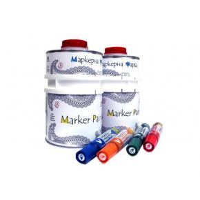 Краска интерьерная маркерная Le Vanille Pro белая глянцевая