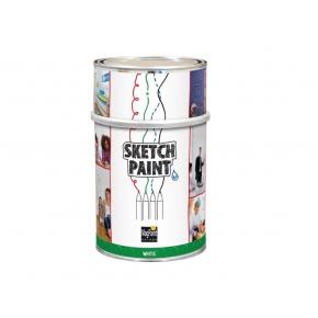 Краска интерьерная маркерная MagPaint Sketchpaint белая матовая - интернет-магазин tricolor.com.ua