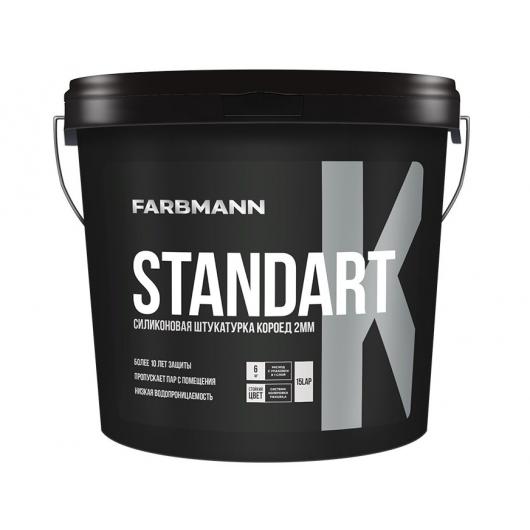Штукатурка декоративная силикон-модифицированная Farbmann Standart K Короед - интернет-магазин tricolor.com.ua