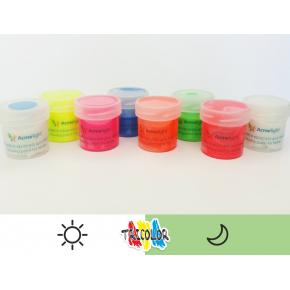 Краска люминесцентная AcmeLight для текстиля белая 20 мл - изображение 2 - интернет-магазин tricolor.com.ua