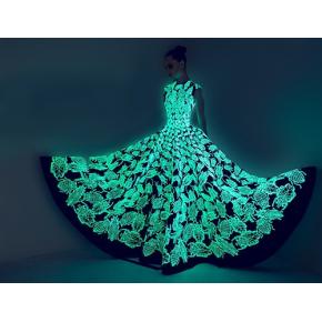 Краска люминесцентная AcmeLight для текстиля классик голубая 20 мл - интернет-магазин tricolor.com.ua