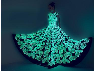 Краска светящаяся AcmeLight для текстиля классик голубая 20мл