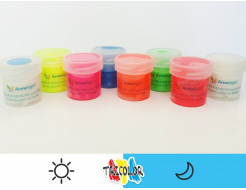Краска люминесцентная AcmeLight для текстиля классик голубая 20мл - изображение 2 - интернет-магазин tricolor.com.ua