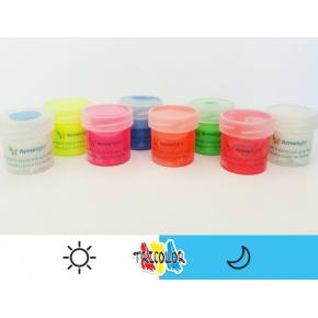 Краска люминесцентная AcmeLight для текстиля классик голубая 20 мл - изображение 2 - интернет-магазин tricolor.com.ua