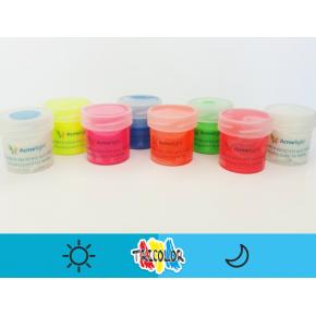 Краска люминесцентная AcmeLight для текстиля синяя 20 мл - изображение 2 - интернет-магазин tricolor.com.ua