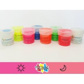 Краска люминесцентная AcmeLight для текстиля розовая 20 мл