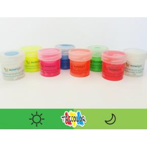 Краска люминесцентная AcmeLight для текстиля зеленая 20 мл - изображение 2 - интернет-магазин tricolor.com.ua