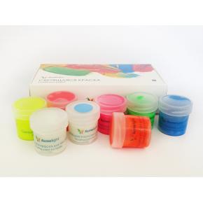 Набор люминесцентных красок для текстиля AcmeLight 8 шт