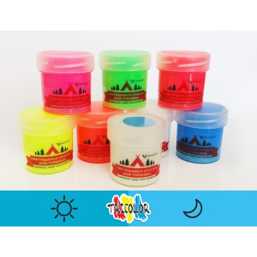 Краска люминесцентная AcmeLight для туризма синяя 20мл