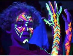 Набор флуоресцентных красок AcmeLight аквагрим для тела 8 шт по 20 мл - изображение 4 - интернет-магазин tricolor.com.ua
