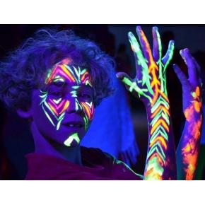 Набор флуоресцентных красок AcmeLight аквагрим для тела 8 шт по 20 мл - изображение 8 - интернет-магазин tricolor.com.ua