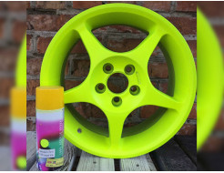 Краска-пленка (жидкая резина) BeLife Spraysticker Fluor желтая - изображение 2 - интернет-магазин tricolor.com.ua