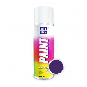 Аэрозольная краска акриловая универсальная BeLife 549 темно-фиолетовая