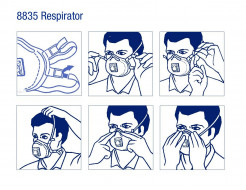 Купить Противоаэрозольный респиратор 3М 8835 (уровень защиты FFP3) - 14