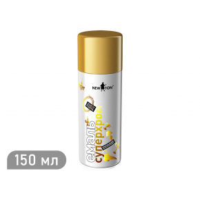 Аэрозоль супер хром New Ton золотой 150 мл