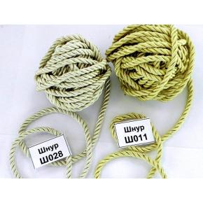 Декоративный шнур Limil № 11 светло-золотой - интернет-магазин tricolor.com.ua