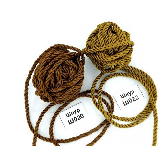 Декоративный шнур Limil № 22 светло-коричневый - интернет-магазин tricolor.com.ua