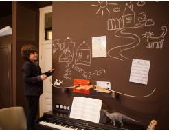 Интерьерная грифельная краска Le Vanille Miracle коричневая - изображение 2 - интернет-магазин tricolor.com.ua
