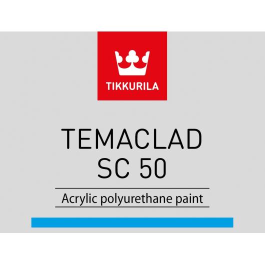Краска акрилополиуретановая 2К А Темаклад СЦ 50 Tikkurila Temaclad SC 50 TCL прозрачная - изображение 2 - интернет-магазин tricolor.com.ua