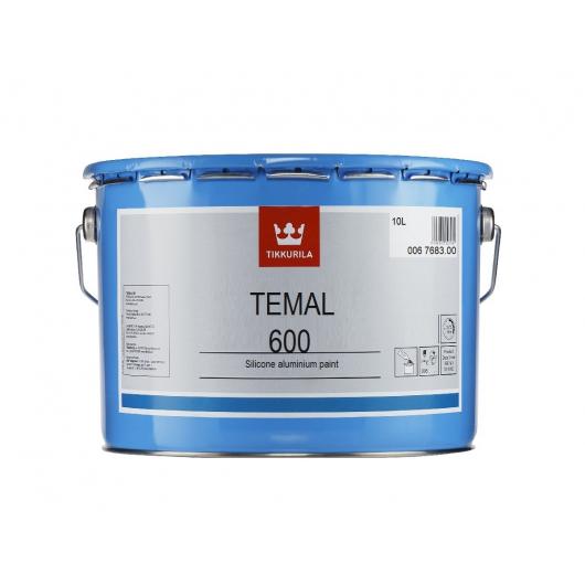 Краска силиконовая Темал 600 Tikkurila Temal 600 алюминиевая - изображение 2 - интернет-магазин tricolor.com.ua