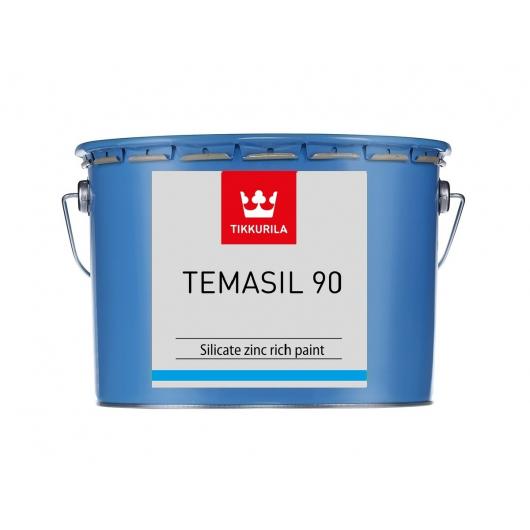 Краска этилсиликатная 2К А Темасил 90 Tikkurila Temasil 90 серо-зеленая - изображение 2 - интернет-магазин tricolor.com.ua