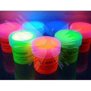 Краска флуоресцентная AcmeLight для творчества белая 20 мл - изображение 2 - интернет-магазин tricolor.com.ua