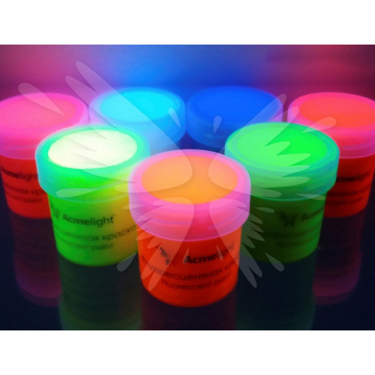 Краска флуоресцентная AcmeLight для творчества синяя 20мл - изображение 2 - интернет-магазин tricolor.com.ua
