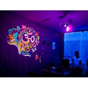 Краска флуоресцентная AcmeLight для творчества желтая 20 мл - интернет-магазин tricolor.com.ua