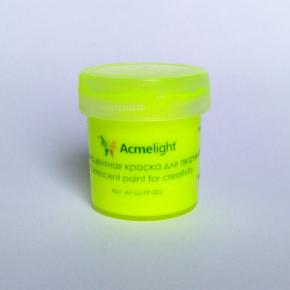 Краска флуоресцентная AcmeLight для творчества желтая 20 мл - изображение 5 - интернет-магазин tricolor.com.ua