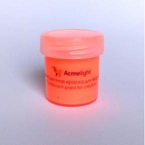 Краска флуоресцентная AcmeLight для творчества оранжевая 20 мл - изображение 4 - интернет-магазин tricolor.com.ua