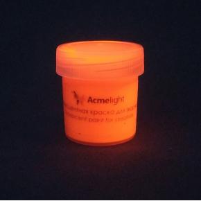 Краска флуоресцентная AcmeLight для творчества оранжевая 20 мл - изображение 5 - интернет-магазин tricolor.com.ua