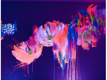 Краска флуоресцентная AcmeLight для творчества розовая 20мл